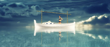 traditional boat  in the balearic islands Stock Images