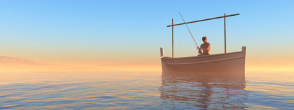 Traditional boat  in the balearic islands Stock Photography