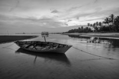 Traditional boat at Bintan Island Indonesia royalty free stock photo