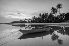 Traditional boat at Bintan Island Indonesia royalty free stock images