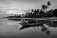 Traditional boat at Bintan Island Indonesia stock image