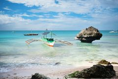 Traditional boat on Boracay island Stock Image