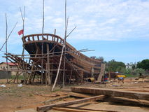 Traditional boat building Royalty Free Stock Photography
