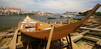 Traditional Boat Building Royalty Free Stock Image