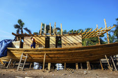 Traditional Boat Building editorial photo. Image of ship ...