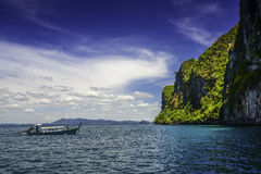 Traditional Boat Crystal Clear Water Koh Mook Stock Photography