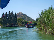 Traditional boat at Dalyan Bogazi river, Turkey Royalty Free Stock Photo