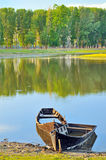 Traditional boat  in the danube river Royalty Free Stock Image