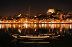 Traditional boat on the Douro river Royalty Free Stock Photography