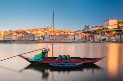Traditional boat in the Douro River. Porto, Portugal Royalty Free Stock Image