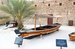 Traditional boat in the Dubai museum Royalty Free Stock Photos