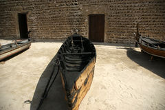 Traditional boat in the Dubai museum Stock Photos