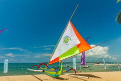 Traditional boat natives people tropical islands, called bangka Stock Photography
