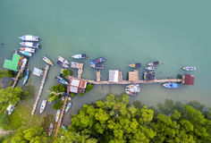 Traditional boat park Royalty Free Stock Photos