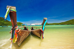 Phi Phi Island, Phuket, thailand. Traditional boat at Phi Phi Island, Thailand Stock Photography