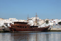 Traditional boat in Rabat, Morocco Royalty Free Stock Photo
