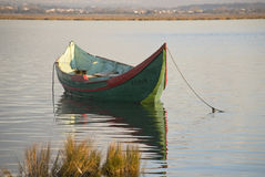Traditional boat at Ria Aveiro Stock Photography