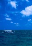 Traditional boat sailing ocean, Maldives Royalty Free Stock Photo