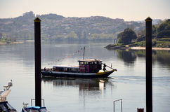 Traditional boat sailing in the river Douro Royalty Free Stock Photography