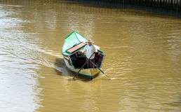 Traditional boat on Sarawak river in Kuching city Stock Image