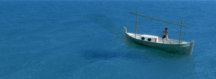 Traditional boat  in teh balearic islands Royalty Free Stock Photography