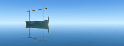 Traditional boat  in teh balearic islands Stock Images