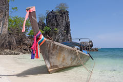 Traditional boat of Thailand Royalty Free Stock Image