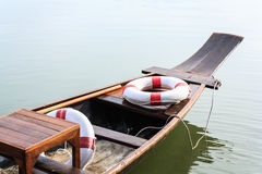 Traditional boats in canal. Traditional boats with safety tools in  canal Royalty Free Stock Image