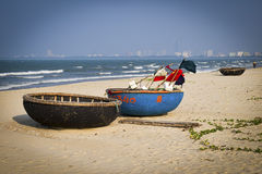 Traditional Boats, Da Nang, Vietnam Stock Photos