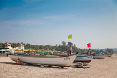 Traditional boats of Goa Stock Photos