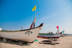Traditional boats of Goa Royalty Free Stock Image