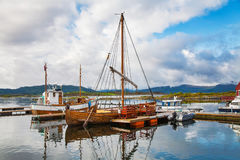 Traditional boats at Haholmen island, Norway stock photos