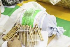Traditional Bobbin Lace Stock Photo