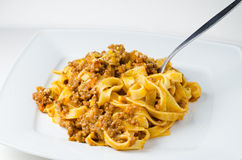 Traditional bolognese pasta Royalty Free Stock Photo