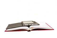 Traditional book and electronic book Stock Photo