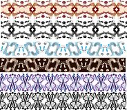 Traditional borders set. Illustration for design Royalty Free Stock Photo