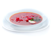Traditional borscht plate Stock Photography