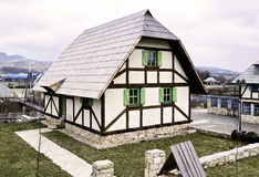 Traditional Bosnian old vintage house or cabin Stock Photography