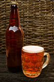 Traditional bottle of Real Ale Royalty Free Stock Photo