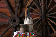 Traditional bottle of wine Stock Photo