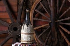 Traditional bottle of wine Royalty Free Stock Images