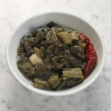 Traditional braised Salted vegetables Royalty Free Stock Image