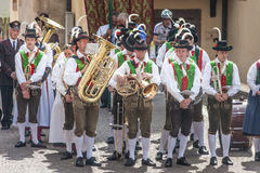 Traditional brass band in South tyrol Stock Images