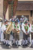 Traditional brass band in South tyrol Stock Photo