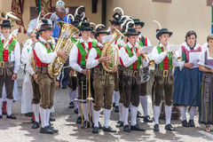 Traditional brass band in South tyrol Royalty Free Stock Images