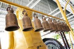 Traditional brass bell stock photography