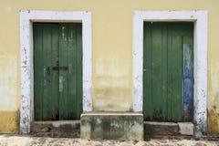 Traditional Brazilian Portuguese Colonial Architecture Stock Photo