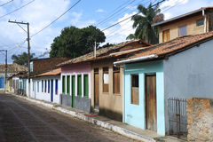 Traditional Brazilian Portuguese Colonial Architecture Royalty Free Stock Photos