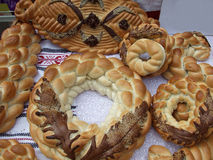 Traditional bread. Some traditional bread from Romania Royalty Free Stock Photo