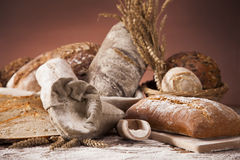 Traditional bread in bakery Royalty Free Stock Image